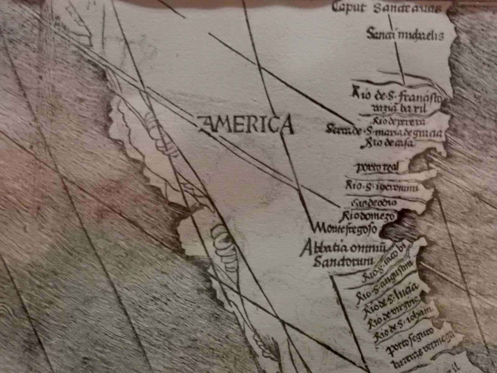 First Map of America - Library of Congress Washington DC