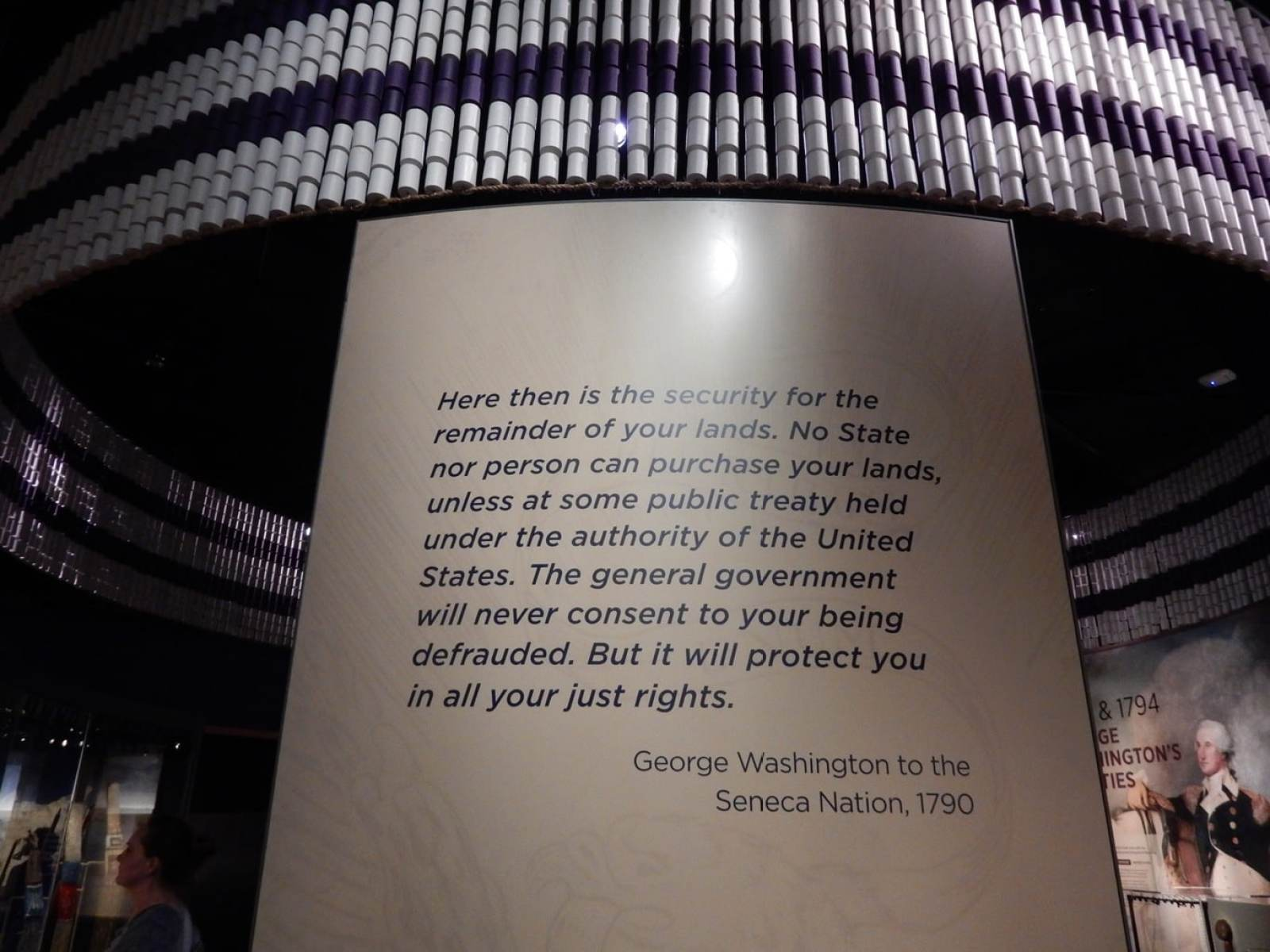 George Washington Letter to Seneca Nation 1790 - National Museum of American Indian DC