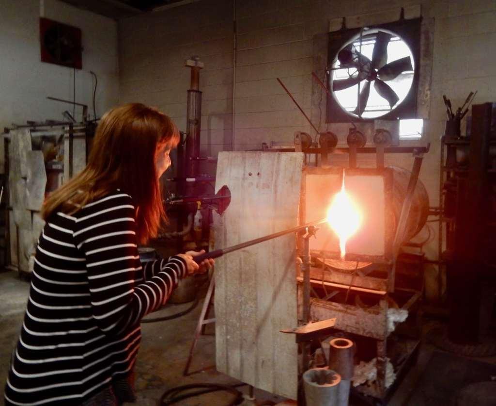 Glasssblowing class Glasslight Studio