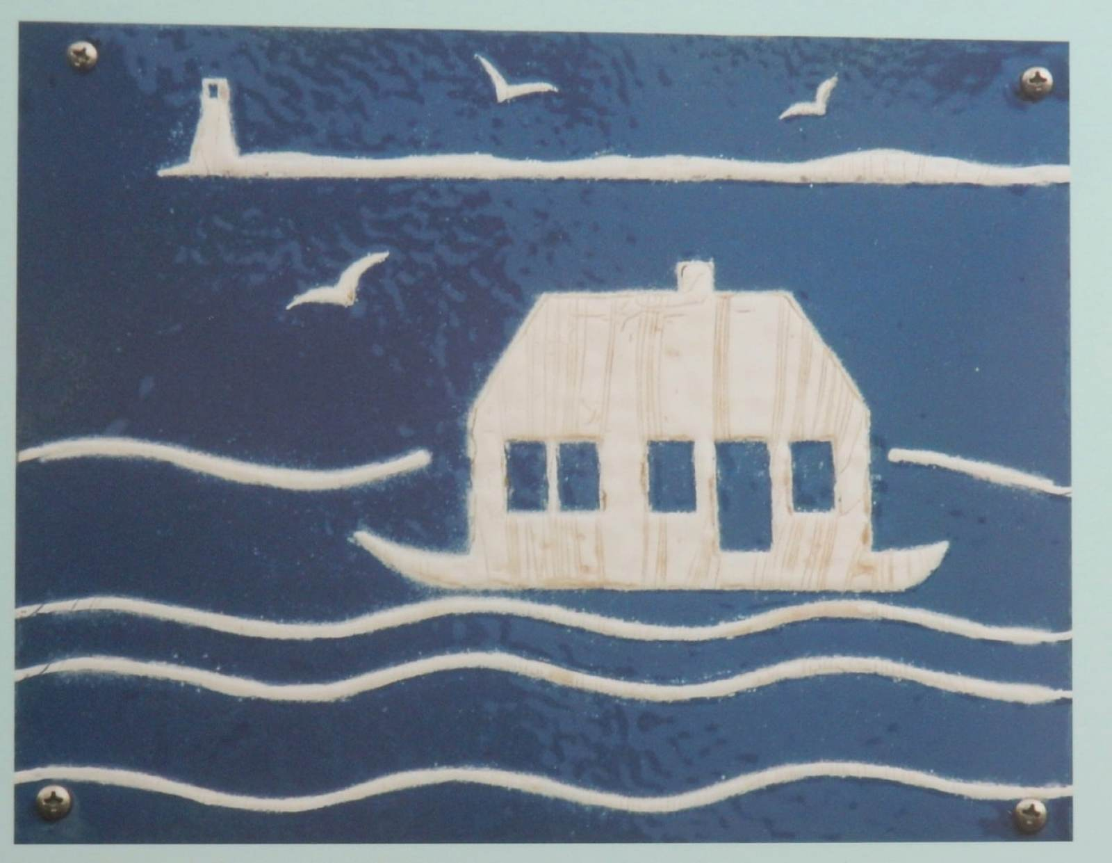 Provincetown's Floating House Plaque