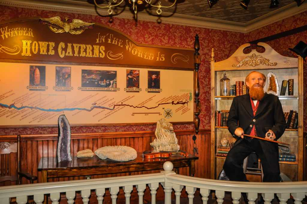 Lester Howe animatronic at Howe Caverns in Schoharie NY.
