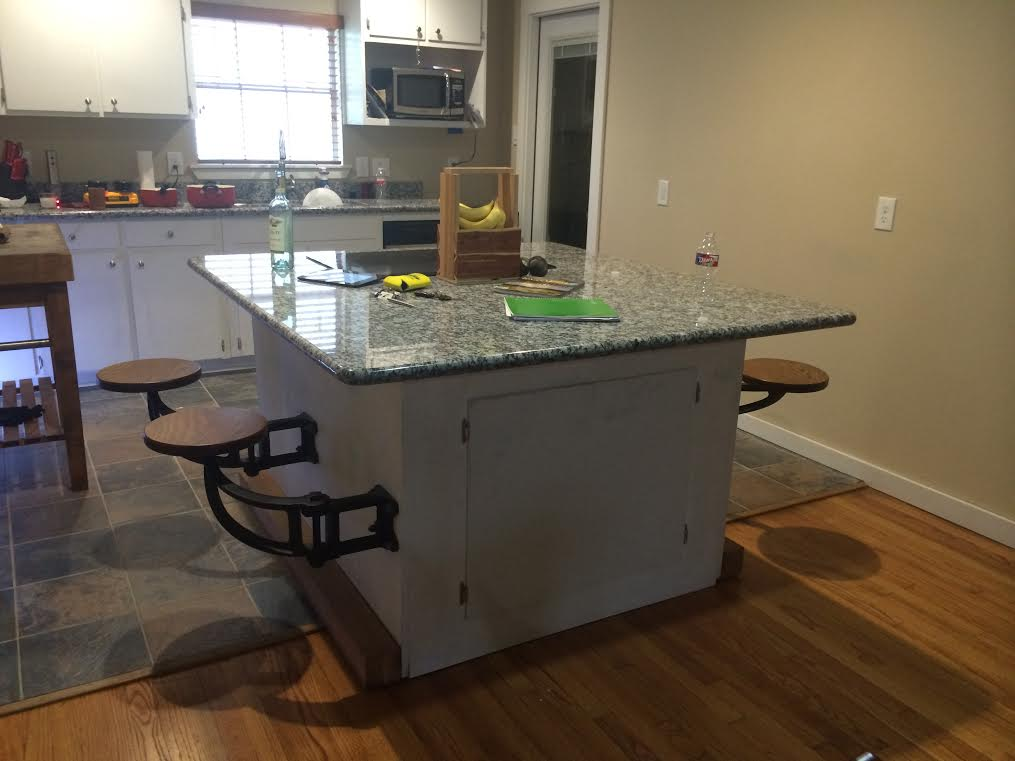 kitchen island designs with seating standing cabinets for the get back original swing-out seat - inc