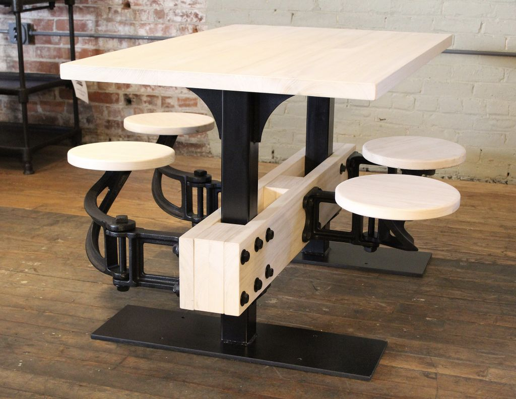 swing chair dining table nuna high reviews vintage industrial cafeteria out seat kitchen