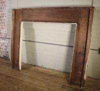 Antique Vintage Rustic Distressed Painted Wooden Fireplace ...