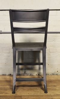 Industrial Metal Dining Chairs Eight Industrial Metal ...