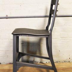 Industrial Metal Chairs Combi High Chair Gunmetal Toledo Get Back Inc