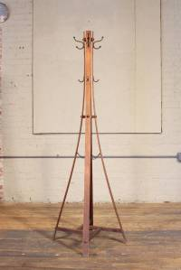 Vintage Wood Standing Coat Rack