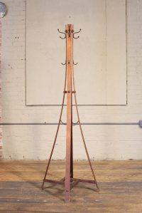 Vintage Wood Standing Coat Rack - Tradingbasis