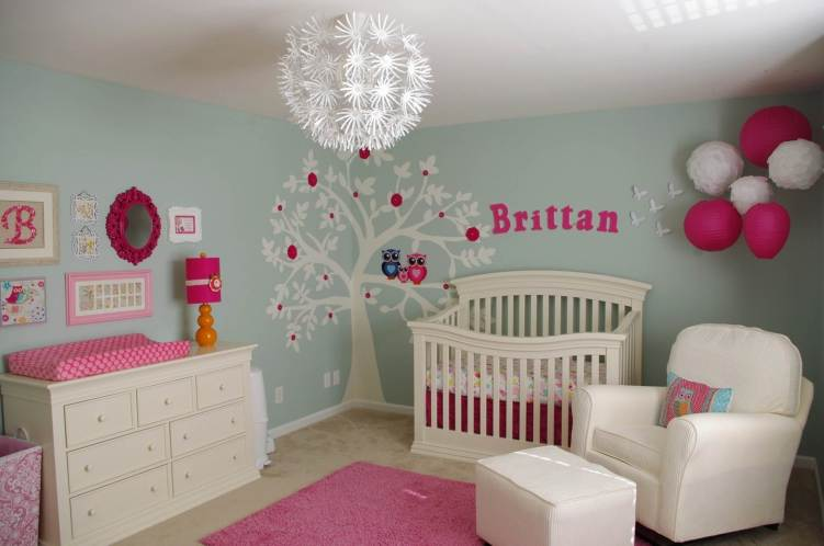 Staggering baby girl room ideas pink and green #babygirlroomideas #babygirlnurseryideas #babygirlroom