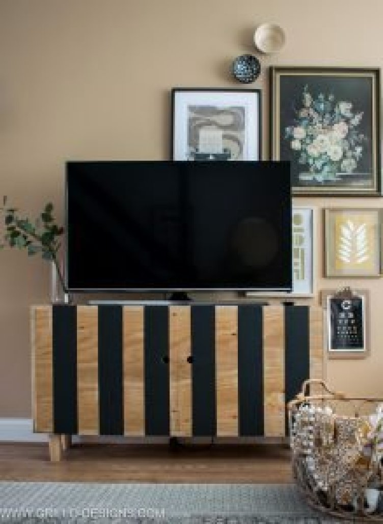 Breathtaking diy tv stand plans free #DIYTVStand #TVStandIdeas #WoodenTVStand