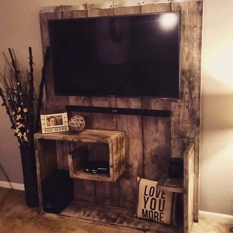 Fantastic diy led tv stand #DIYTVStand #TVStandIdeas #WoodenTVStand