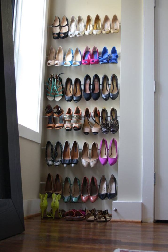 Perfect shoe bench #shoestorageideas #shoerack #shoeorganizer
