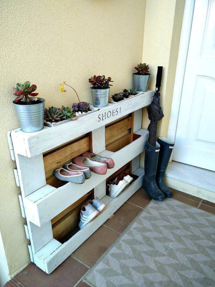 Spectacular wall mounted shoe rack #shoestorageideas #shoerack #shoeorganizer
