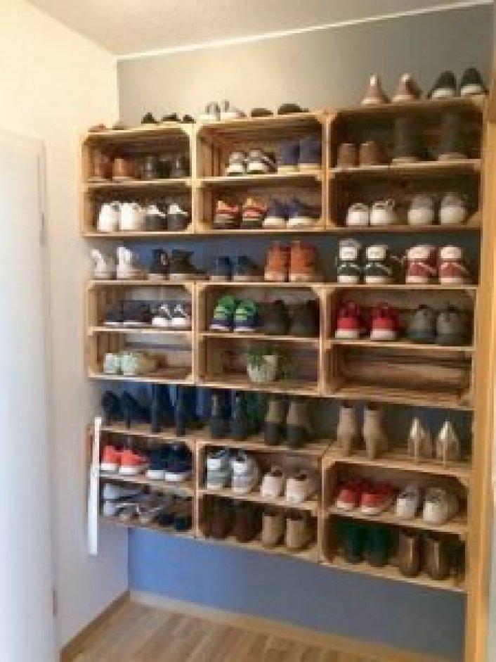 Spectacular shoe storage display ideas #shoestorageideas #shoerack #shoeorganizer