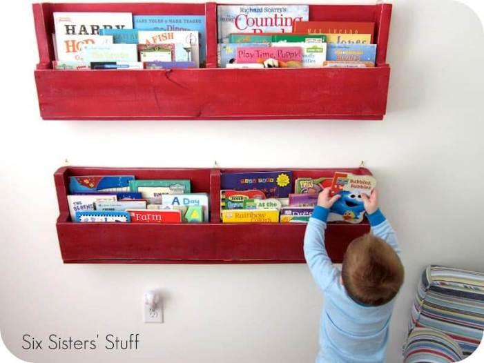 Pallet Bookshelf For Kids Room Delight Simple Plans Diybookshelfpallet Bookshelves Storageideas