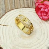 Fake Cartier LOVE Ring Yellow Gold Diamonds
