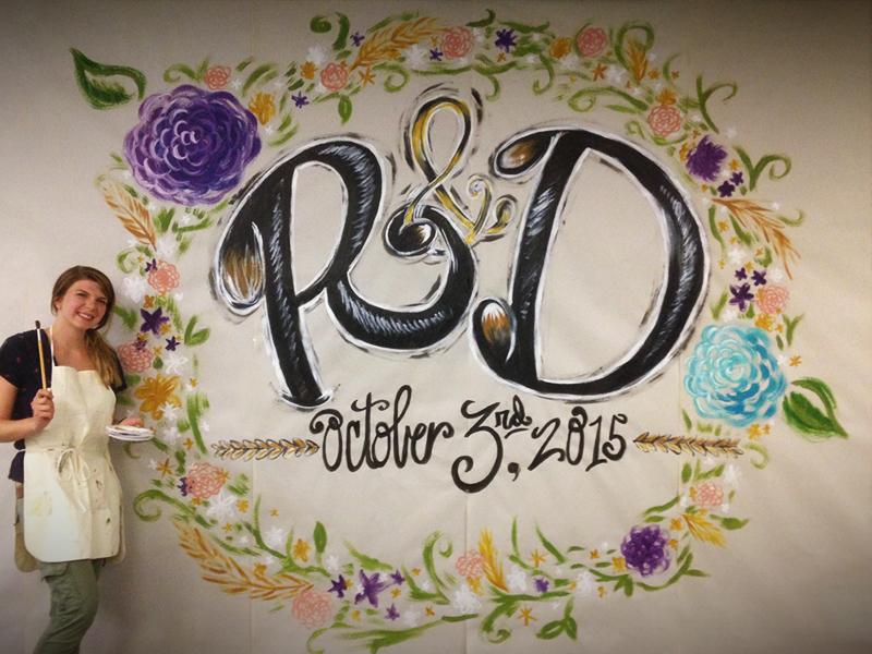 RandD wedding Mural