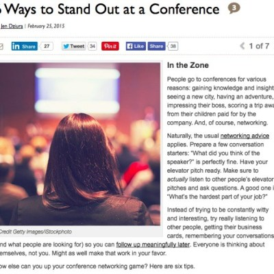 Bullish on DailyWorth…6 Ways to Stand Out at a Conference