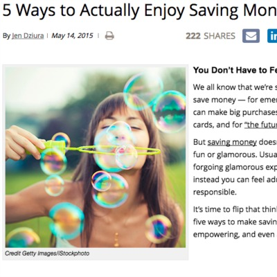 Bullish on DailyWorth…5 Ways to Actually Enjoy Saving Money