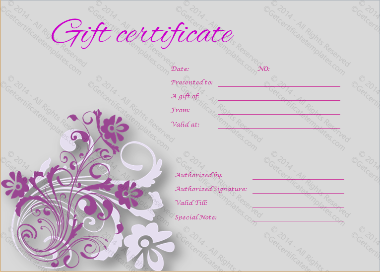 templates for gift certificates