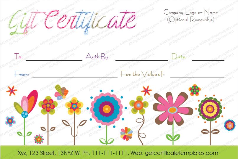 free printable customizable gift certificates