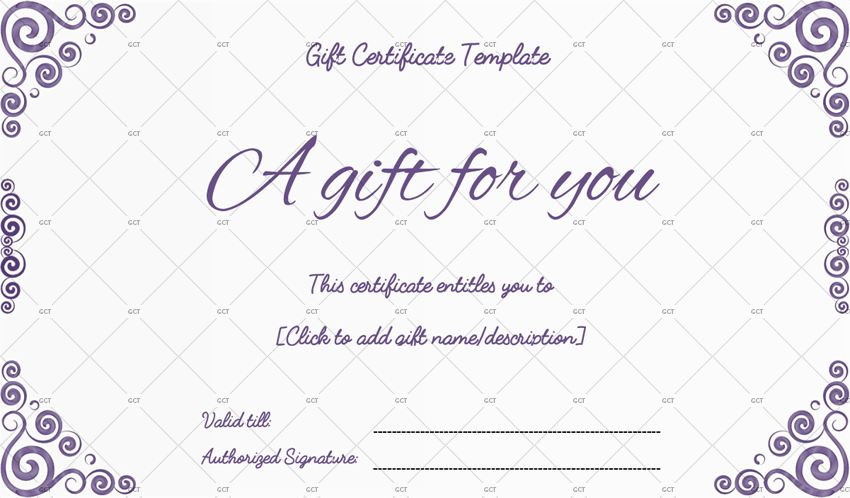 word gift certificate template free download