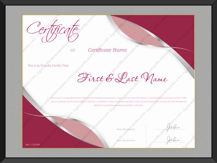 Award Certificate Template 142 Get Certificate Templates