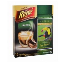 Rene Espresso Colombia συμβατές κάψουλες Nespresso* - 10 τεμ.