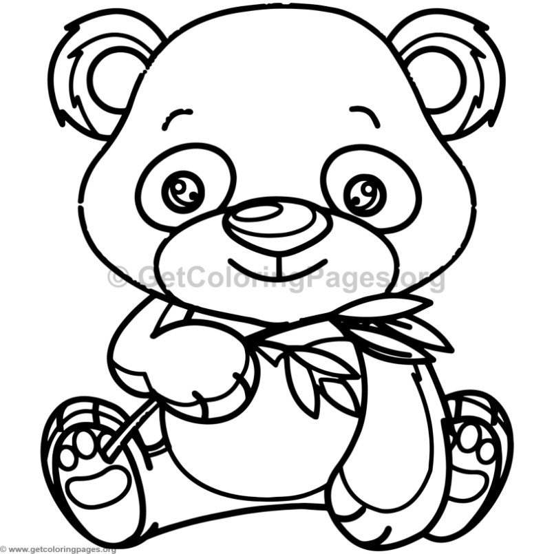 Baby Panda Coloring Pages For Kids Sketch Coloring Page