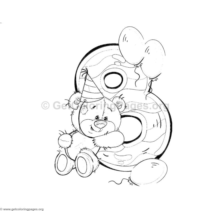 Teddy Bear Number Eight Coloring Pages