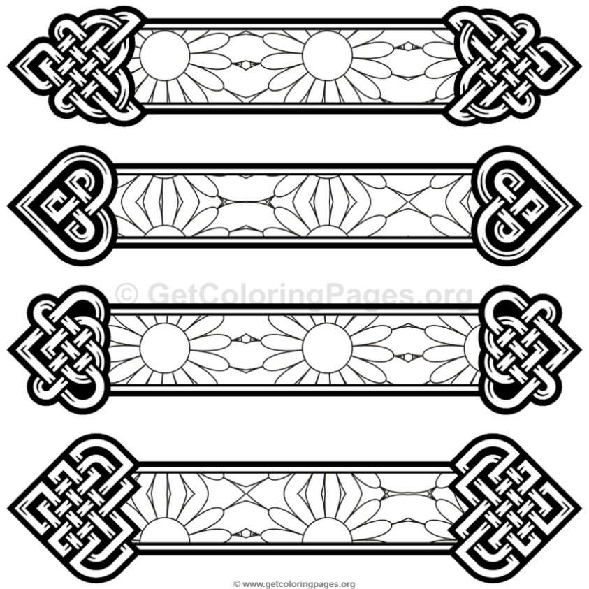 Celtic Knot Bookmarks Coloring Pages #2