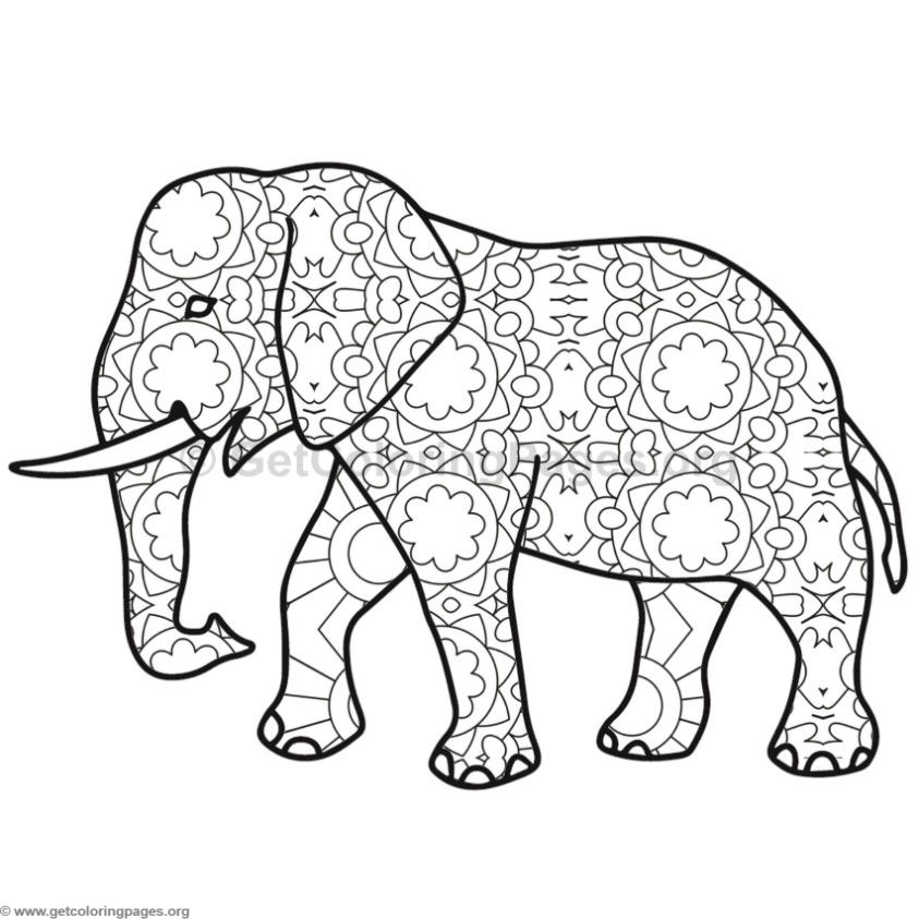 Elephant Coloring Pages #11