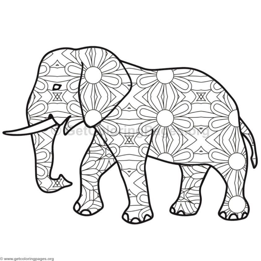 Elephant Coloring Pages #9