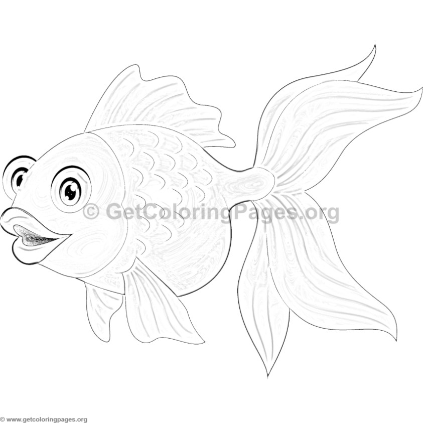 Goldfish 21 Coloring Page Supercoloringcom Sketch Coloring