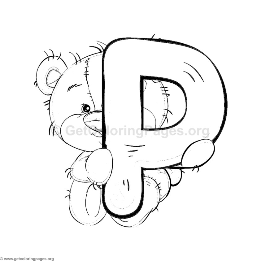 Coloring Pages Of Letter S With The Teddy Bear. Coloring