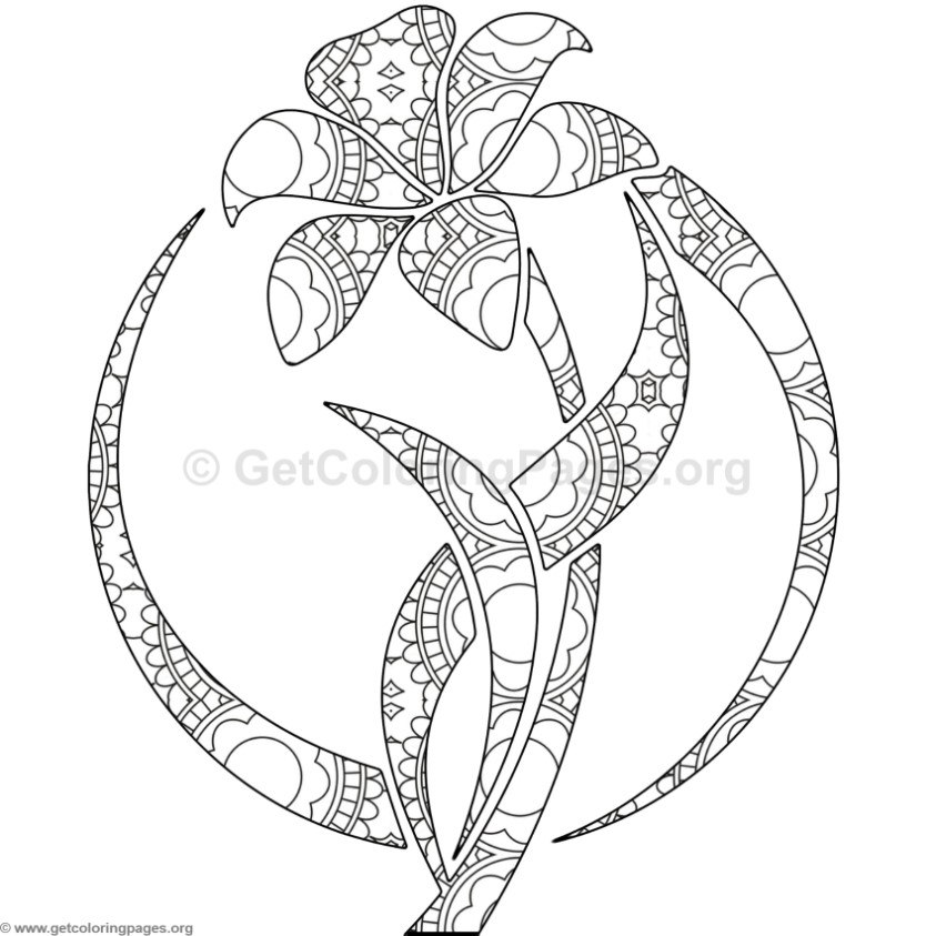 Lily Flower Coloring Pages #3