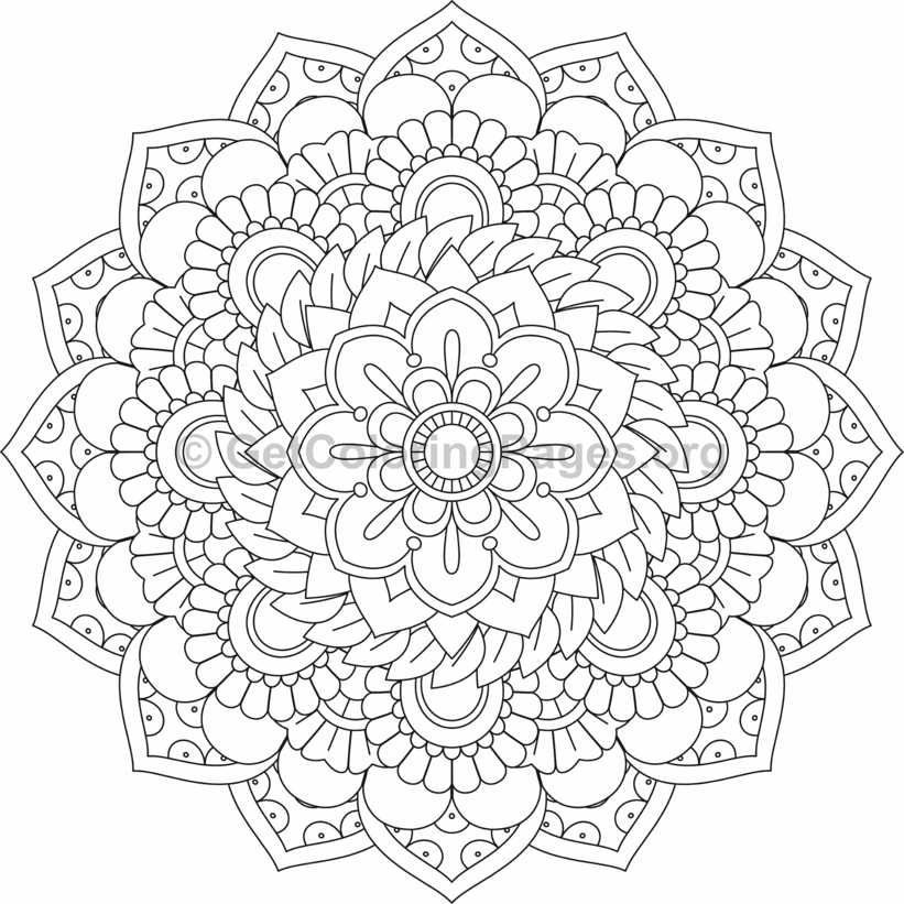 Flower Mandala Coloring Pages 52