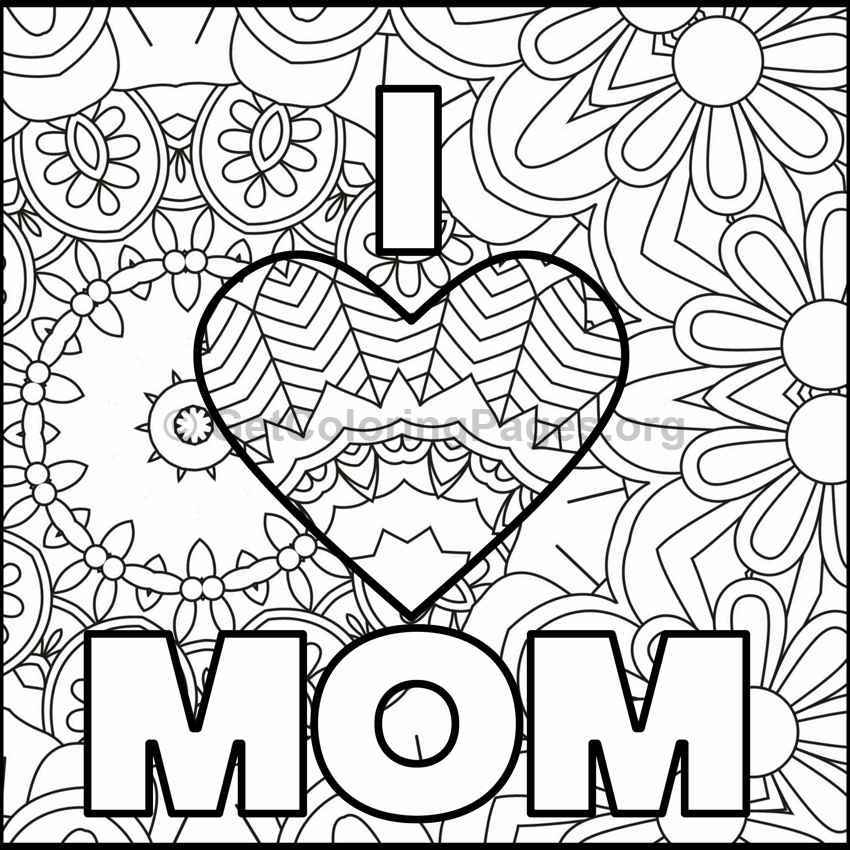 Mother's Day Coloring Pages #7
