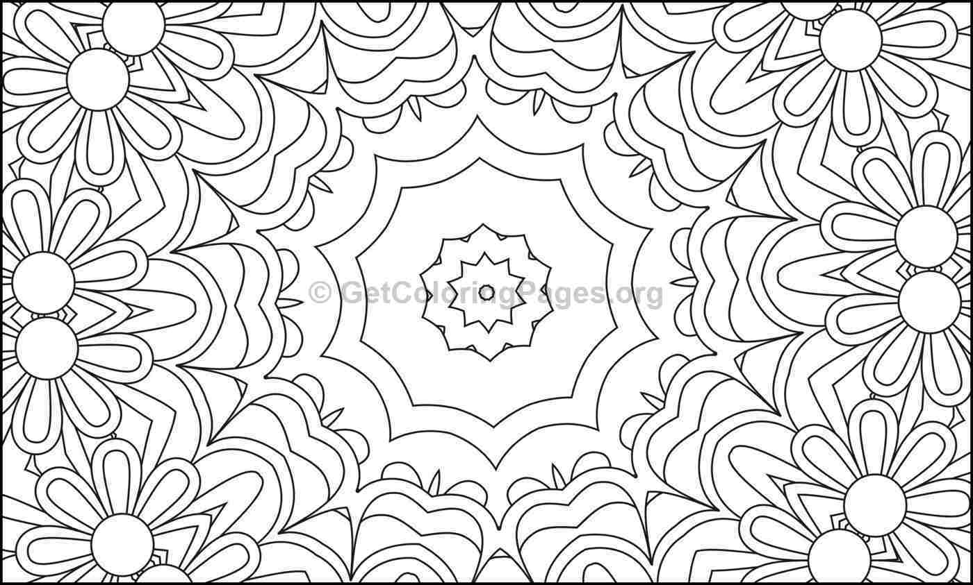 Mosaic Pattern Coloring Pages #4
