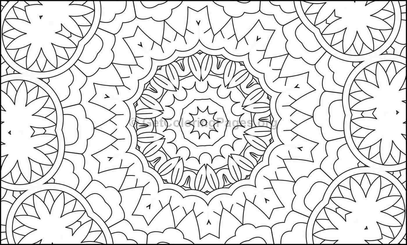 Mosaic Pattern Coloring Pages #6