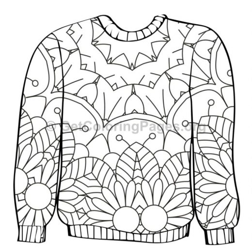Sweater Outline U2013 Getcoloringpages Org