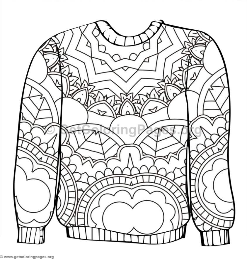 Ugly Sweater Coloring Pages #3