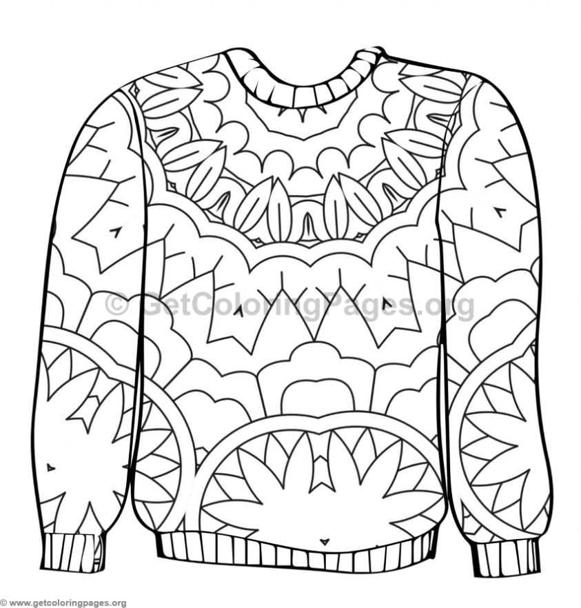 Ugly Sweater Coloring Pages #6