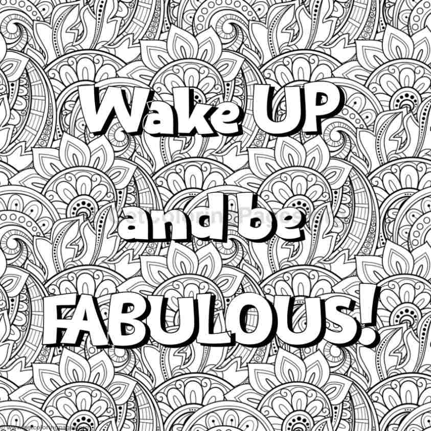Inspirational Word Coloring Pages 49