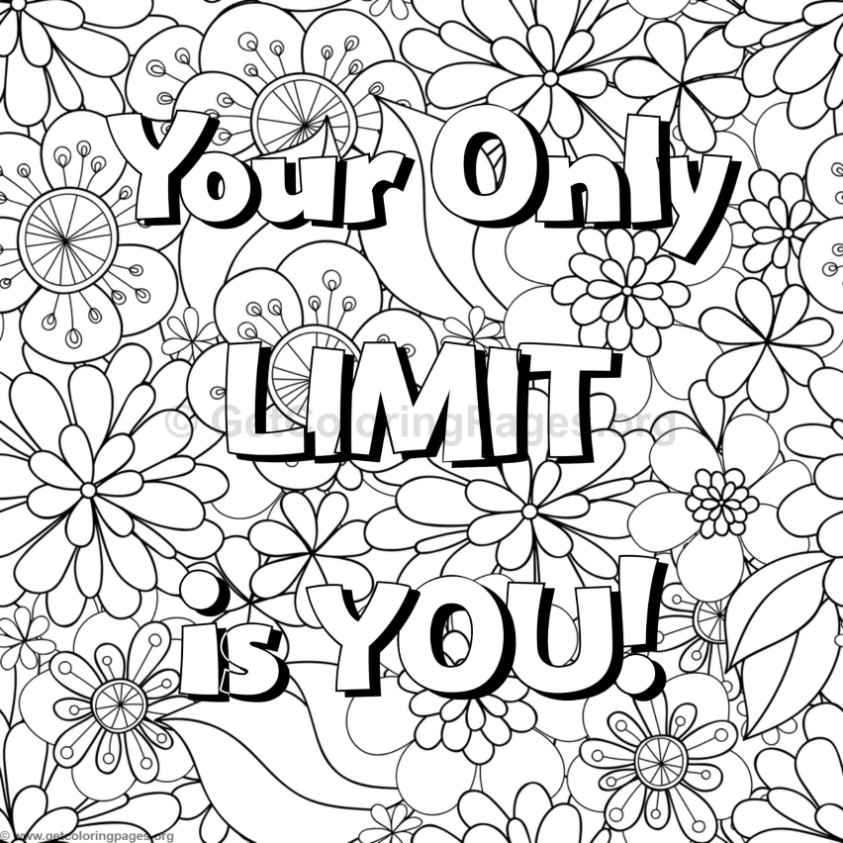 Inspirational Word Coloring Pages #65 – GetColoringPages.org   free printable colouring pages quotes