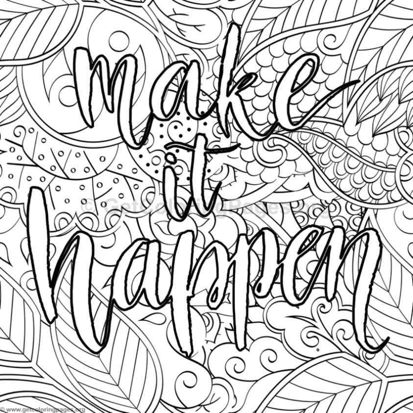 9 Inspirational Pages To Color
