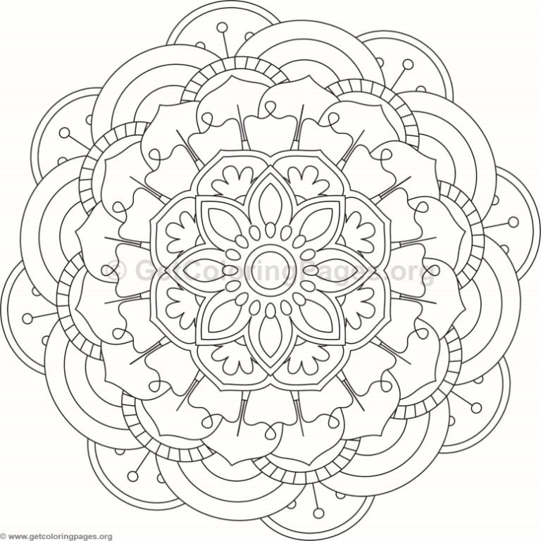 Flower Mandala Coloring Pages #106