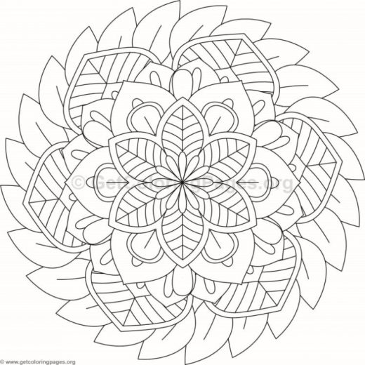 Flower Mandala Coloring Pages #293