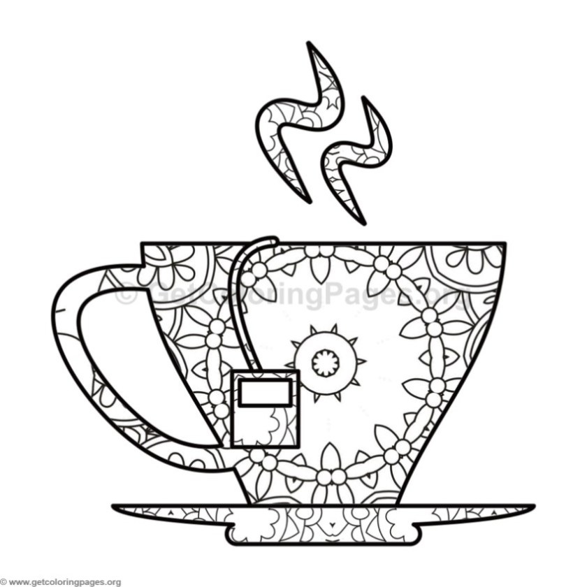 tea cup coloring pages – getcoloringpages