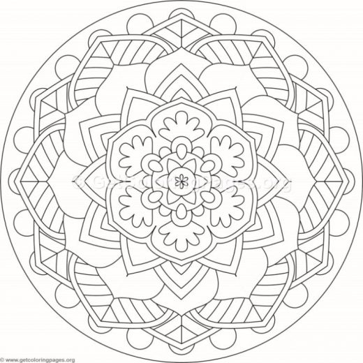 Flower Mandala Coloring Pages #451